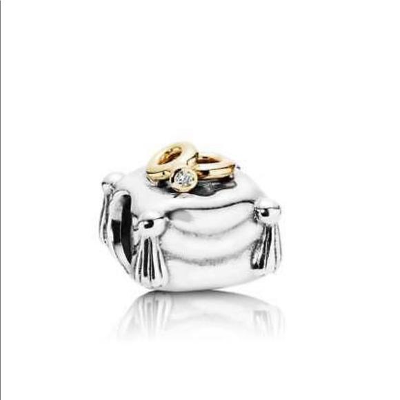 Pandora Jewelry Authentic Wedding Rings On Cushion Charm Poshmark